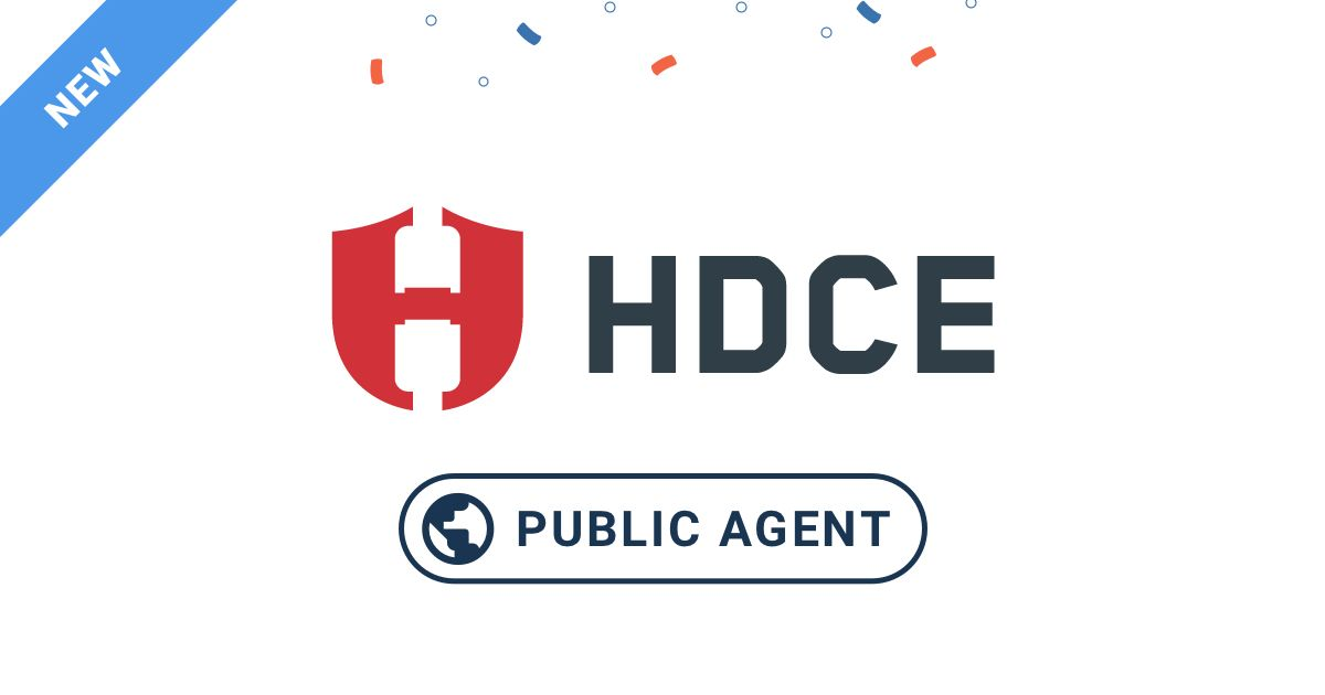 New Public Monitoring Agent at HDCE